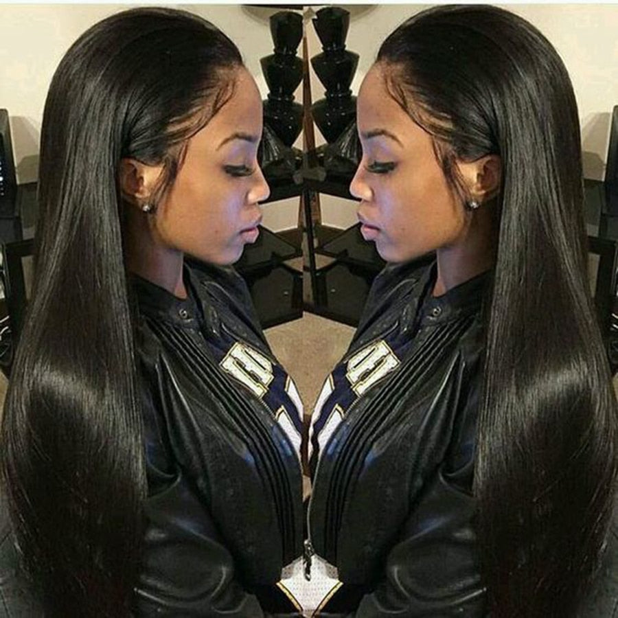 "360 Straight Lace Front Brazilian Remy Human Hair Wig 8""-24"""