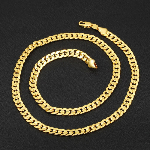 18K Curb Link Gold Necklace