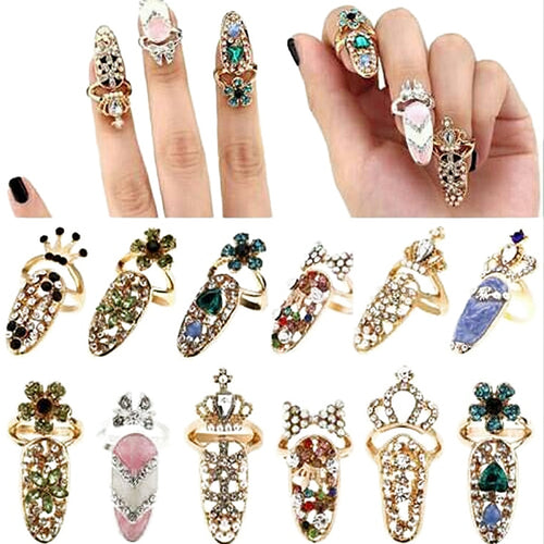 Exquisite Ring Jewelry-Diamond Nail Cover