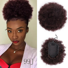Load image into Gallery viewer, Short Curly Afro Ponytails w/Drawstring