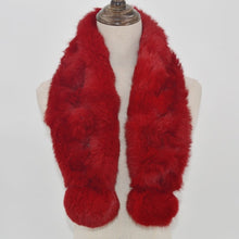 Load image into Gallery viewer, 100% Natural Rabbit Fur Scarf