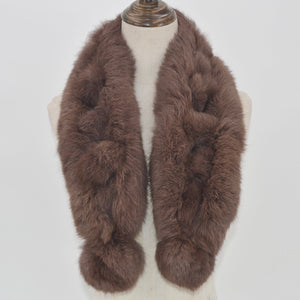 100% Natural Rabbit Fur Scarf