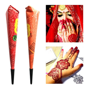 Indian Henna Paste for Temporary Tattoo