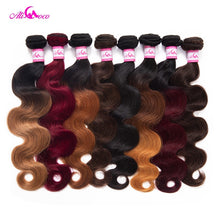 Load image into Gallery viewer, Malaysian Omber Hair Bundles 1/3/4 Bundles 8-30 inch Body Wave