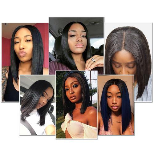 Short Brazilian Lace Front Human Remy Hair Wig