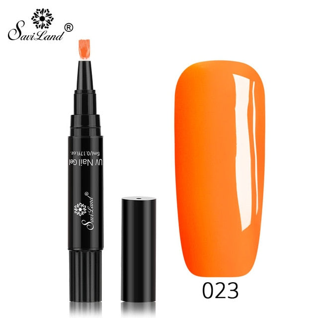 One Step Nail Gel Polish Pen available in 60 Colors   No Need for  Base & Top Coat
