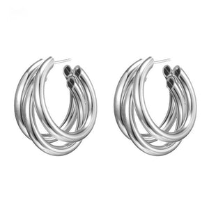 Silver/Gold Hoop Earrings