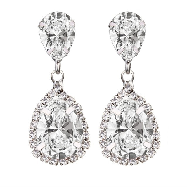2 Carat Diamond CZ Silver Stud Earrings