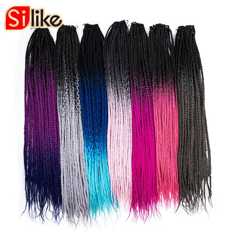 24 Strands  Crochet Ombre Box Braids