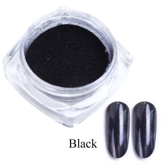 Chrome Metallic Mirror Powder UV Gel Polishing Chrome Flakes Pigment Dust