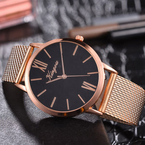 Rose Gold Mesh Watch
