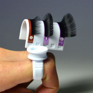 Eyelash Pallet and Adhesive Ring Makeup Tool