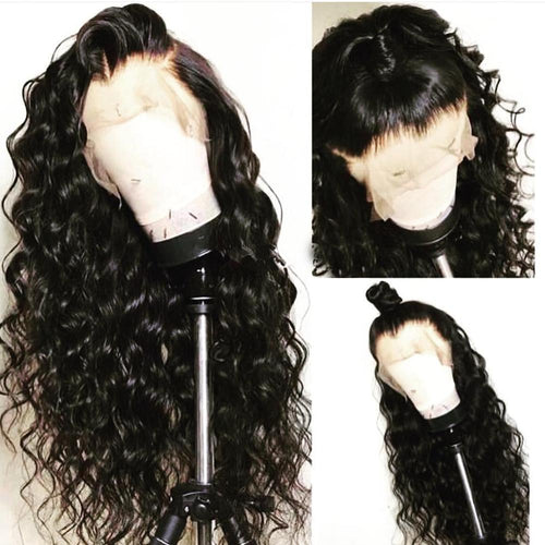 Brazilian Water Wave Lace Front Human Hair Wig - With Baby Hair