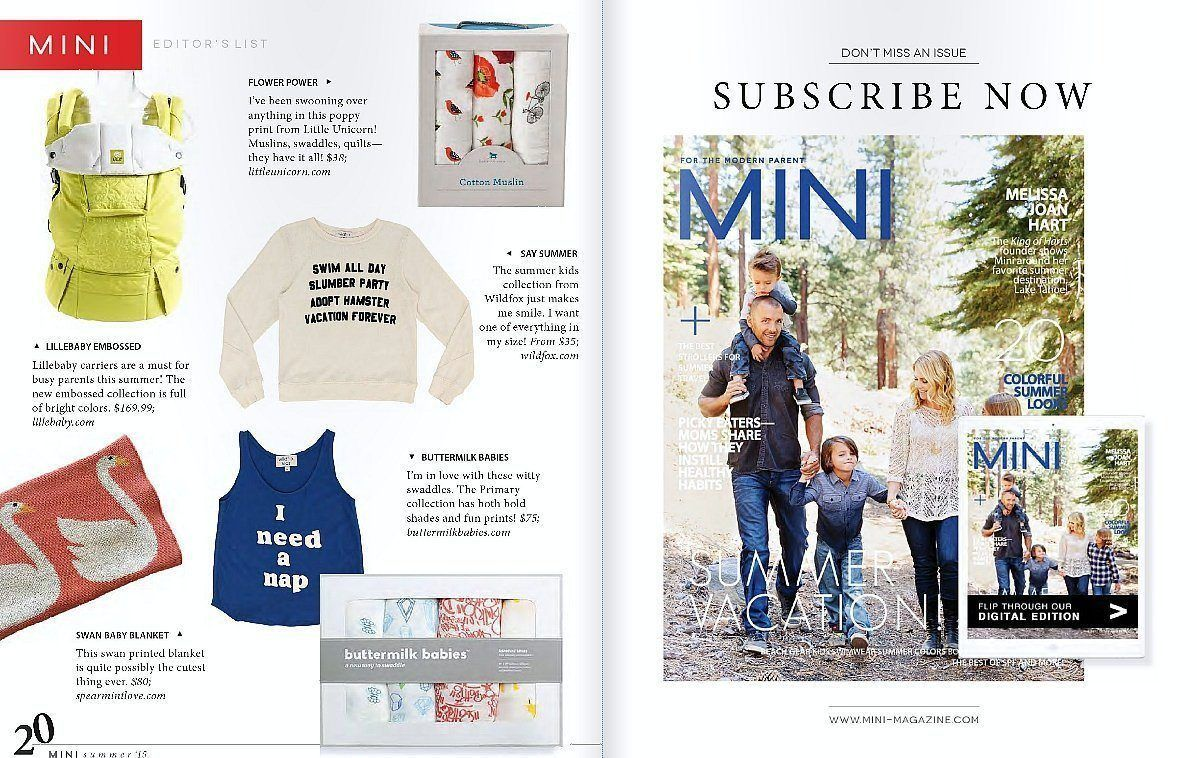 LÍLLÉbaby in the News: Mini Magazine Summer 2015