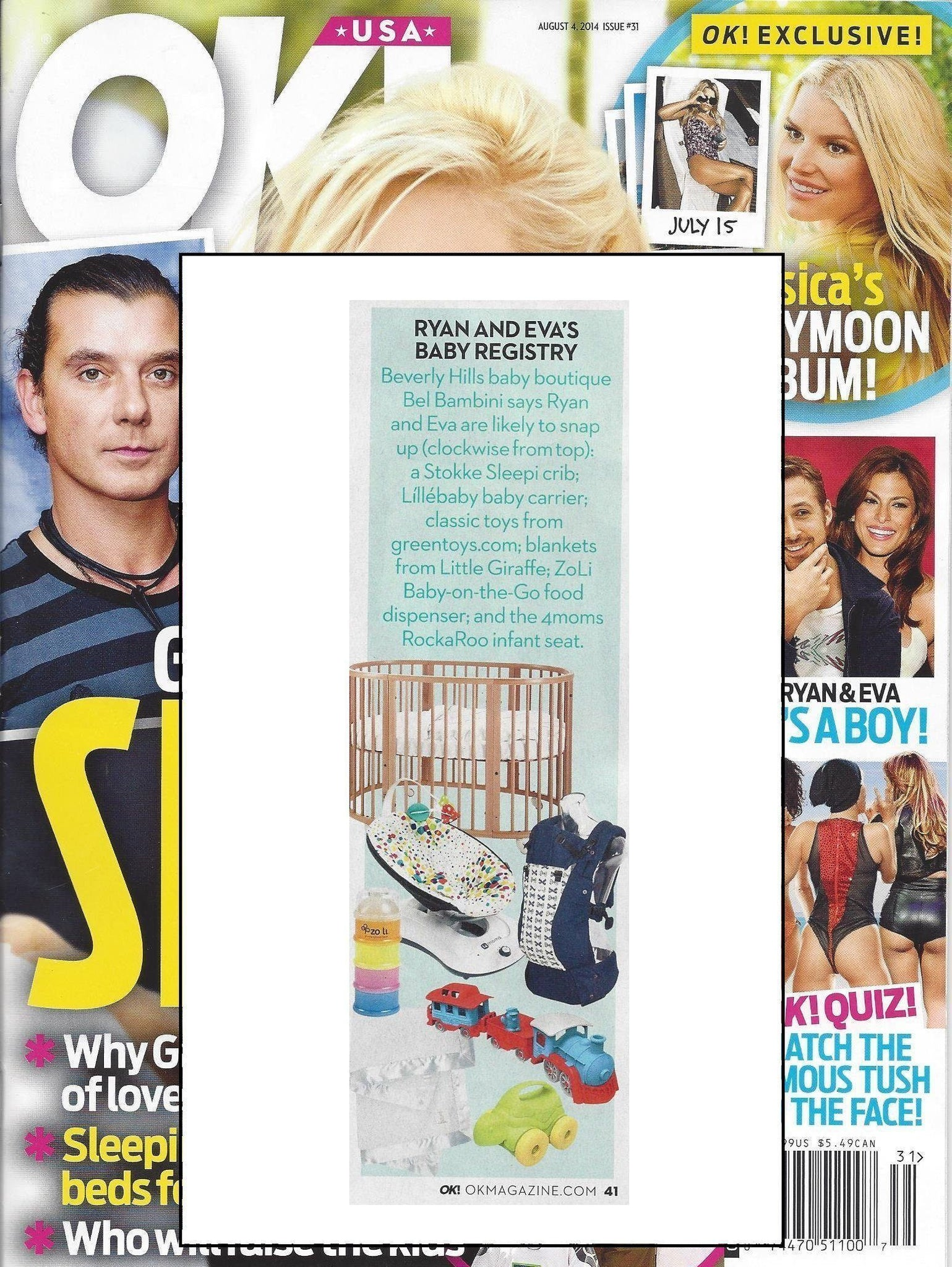 The perfect baby gift, as seen in Aug. 2014 issue of OK! Magazine.