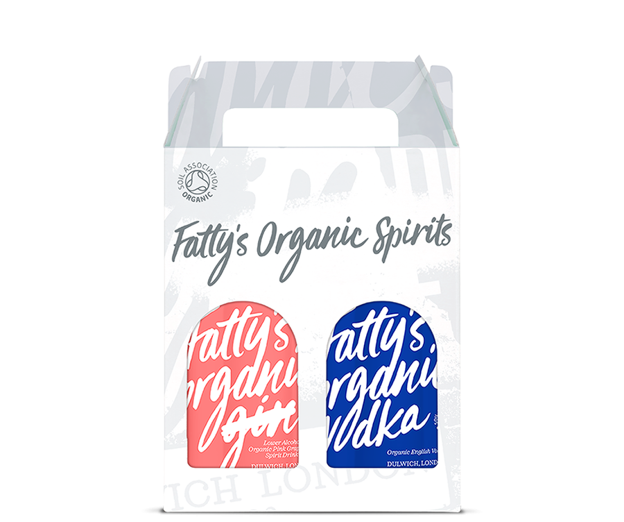Fatty's Organic Pink Grapefruit Spirit & Vodka 2 x 20cl Gift Box