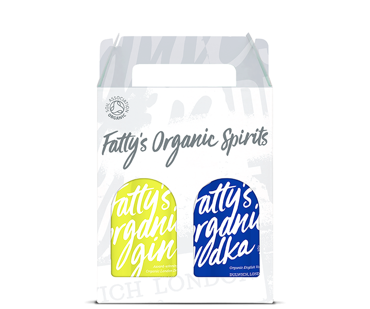 Fatty's Organic London Dry Gin & Vodka 2 x 20cl Gift Box