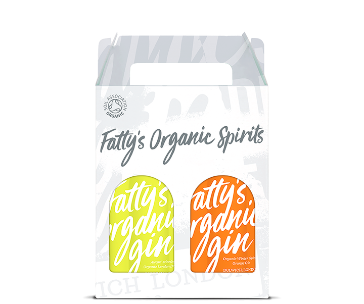 Fatty's Organic London Dry Gin & Winter Spiced Orange Gin 2 x 20cl Gift Box