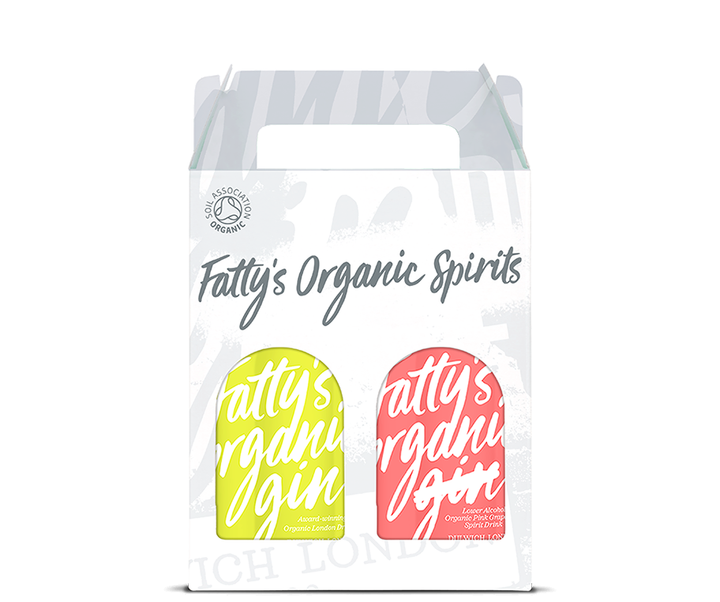 Fatty's Organic London Dry Gin & Pink Grapefruit Spirit 2 x 20cl Gift Box