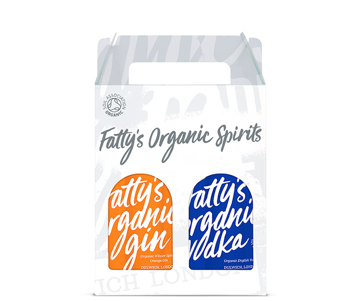 Fatty's Organic Winter Spiced Orange Gin & Vodka 2 x 20cl Gift Box