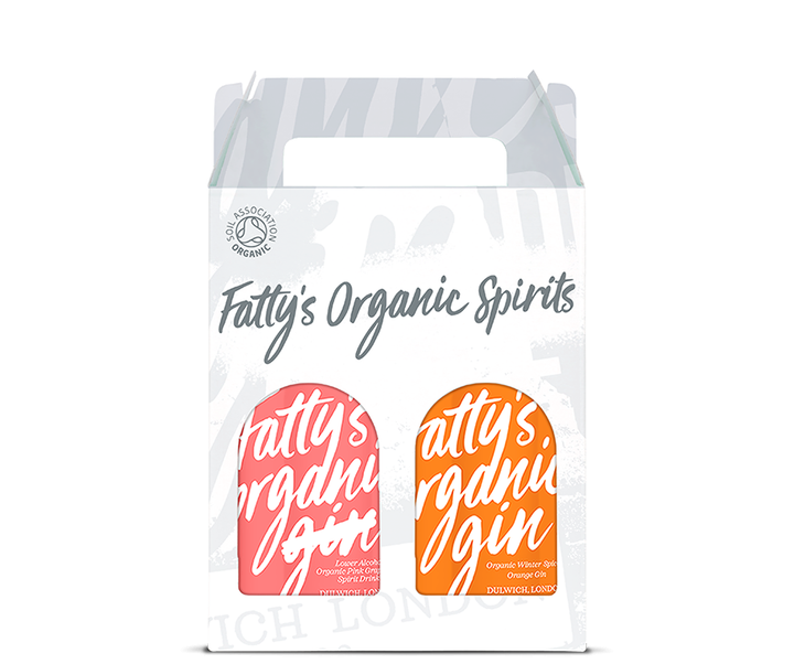 Fatty's Organic Pink Grapefruit Spirit & Winter Spiced Orange Gin 2 x 20cl Gift Box