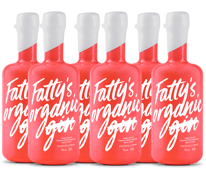 Case of 6 Fatty's Organic Pink Grapefruit Spirit Drink 70cl | 20% Vol