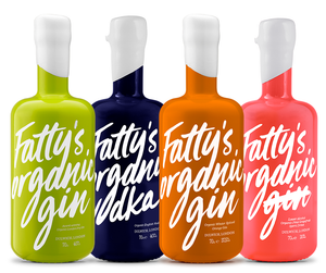 Mixed 4 bottle case - samples each Fatty's Organic Spirits Product 70cl