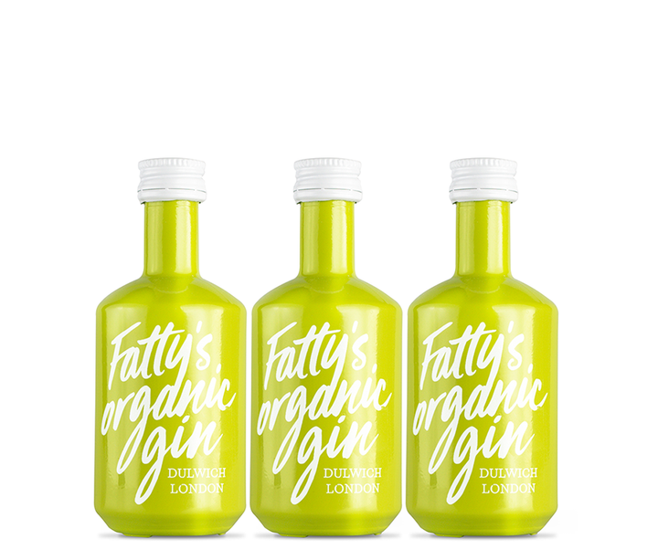 3 x Fatty's Organic London Dry Miniatures 5cl | 40% vol