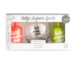Miniature Gift Set | 5cl London Dry Gin and 5cl Pink Grapefruit with a branded glass