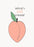 Peach on my heart Card - Funny and Cute card for couples