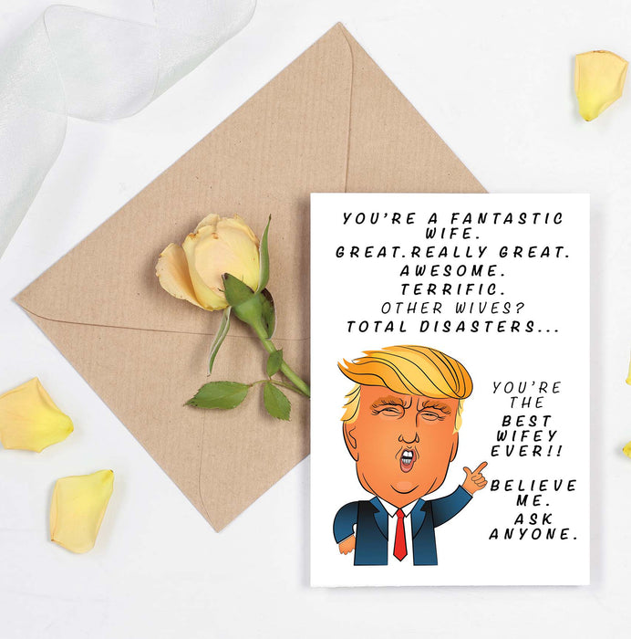 Funny Trump Card - Fantastic Wife Card