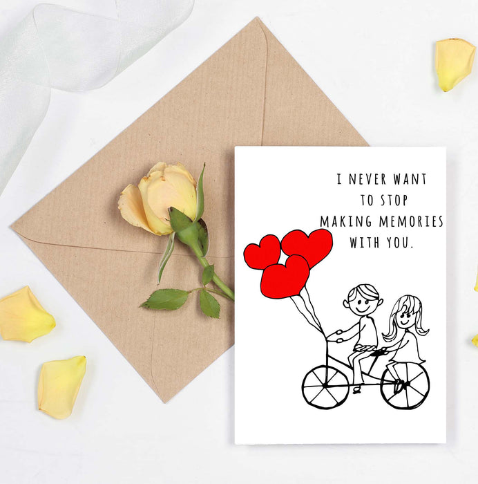 Cute Couples Card - Anniversary or Valentines Day Card