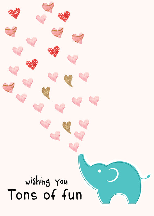 Couples Card - Cute Greeting Card for the person you love the most - wishing you tons of fun