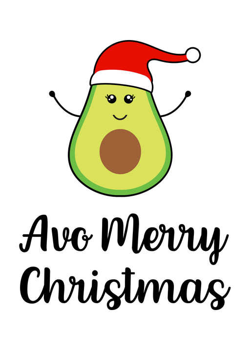 Avocado Merry Christmas - Funny Christmas Card