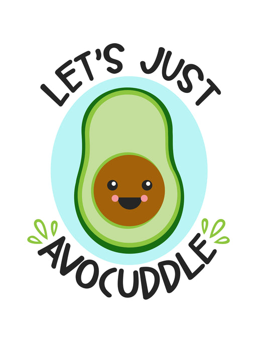 Couples Avocado Card - Lets Just avocuddle