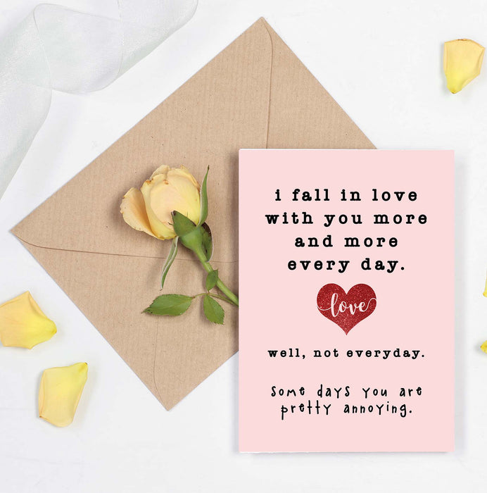 Fall in Love Card - Card for Couples