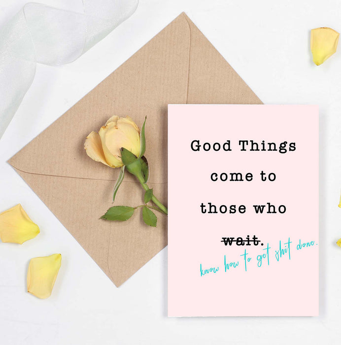 Motivational and Inspirational Card - Best Friends Card