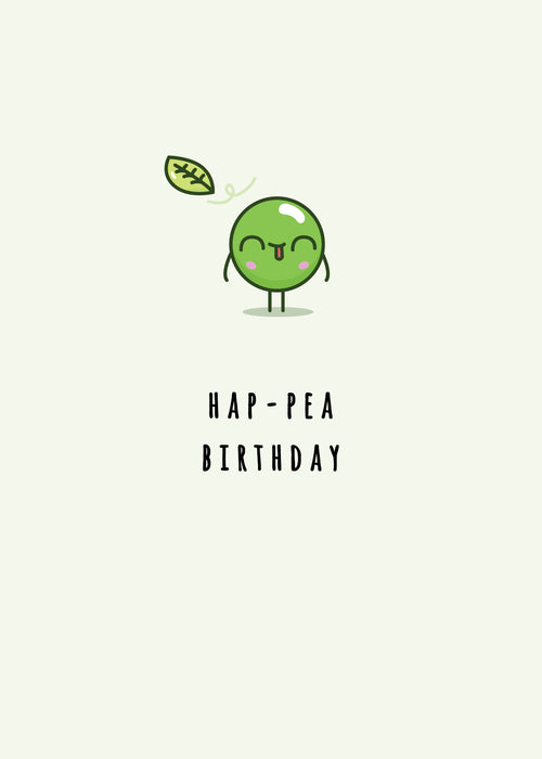 Hap-pea Birthday Cute fun card - happy birthday