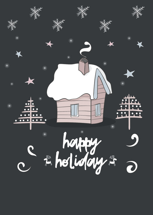 Happy Holidays Card - Merry Christmas and Happy New Year Card