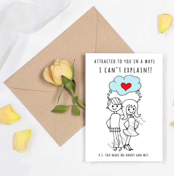 Horny and Wet Card - Naughty Card for Naughty ones