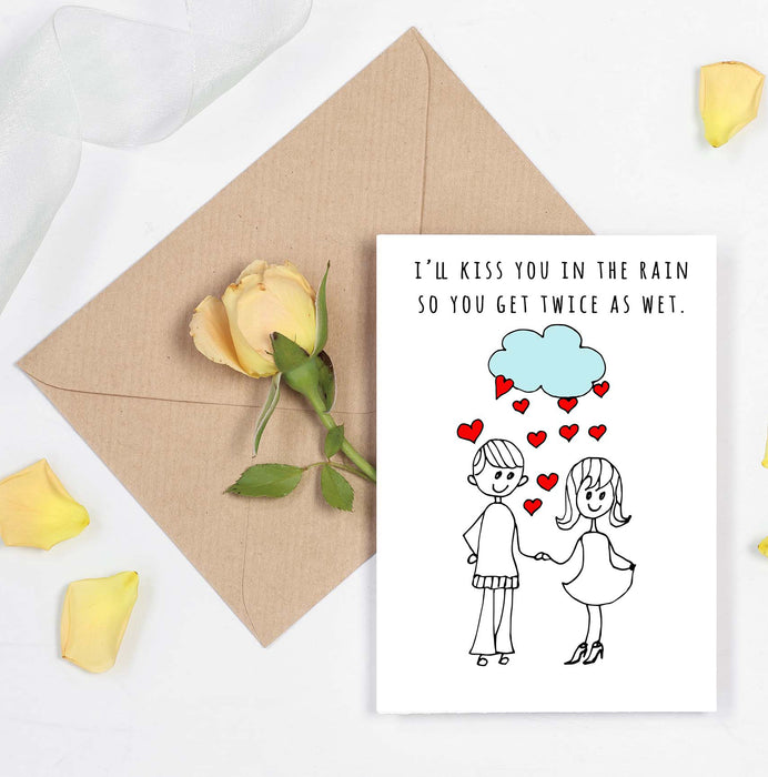 Couple Romantic and Naughty Card - Make you twice as wet