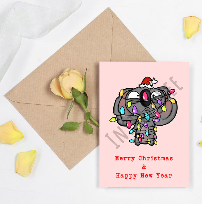 Merry Christmas and Happy New Year Funny Card