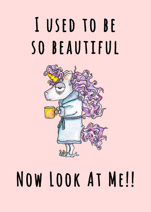 Funny Cards - I used to be so beautiful now look at me