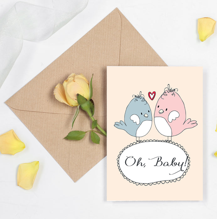 Anniversary or Valentines Day Card - Oh Baby