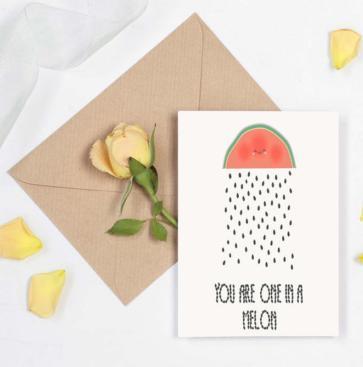 Cute love card - you're one in a million - you're one in a melon