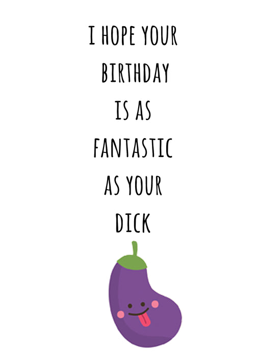 Funny Couples Card - Card for Boyfriend - Fantastic Dick
