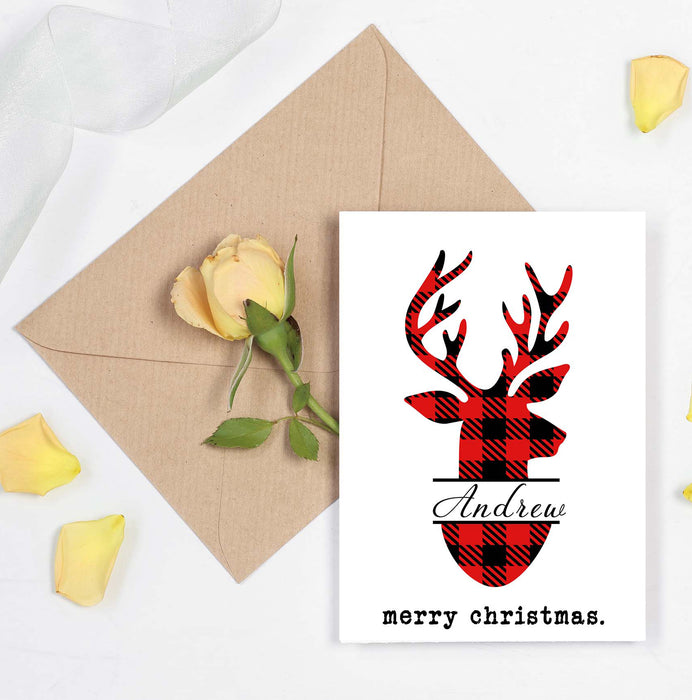 Custom Christmas Card - Give your partner a beautiful custom card with their name on it.