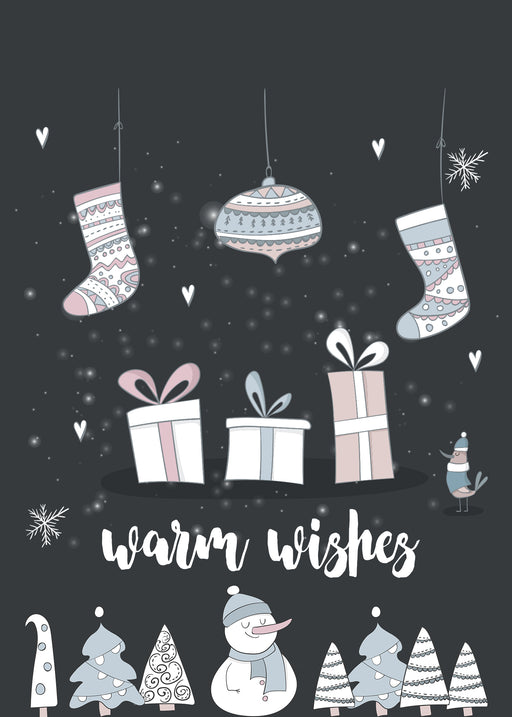 Merry Christmas Card - Warm Wishes to your Family and Friends