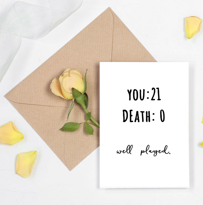 Funny 21st birthday Card - Perfect for close and best friends and boyfriend
