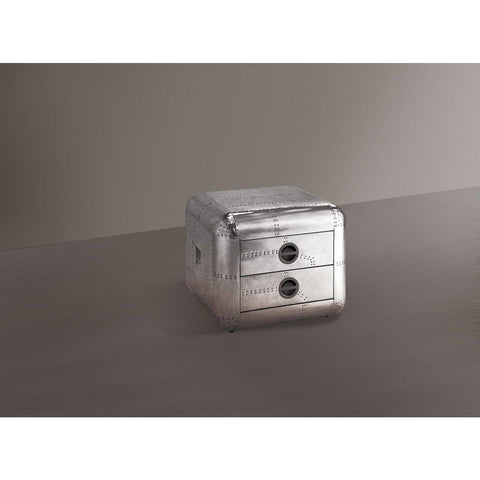 Acme Aberdeen II 82182 Aluminum End Table-End Tables-Acme-End Table-bedsville.com